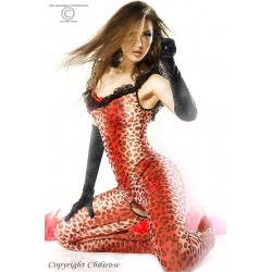 BODYSTOCKING Y TANGA CR-3334 ROJO
