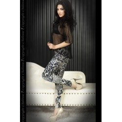 LEGGINGS CR-3456 AZULES Y NEGROS