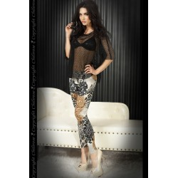 LEGGINGS CR-3456 MARRONES Y NEGROS